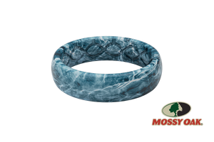 Thin Mossy Oak Spindrift Womens Camo Silicone Wedding Bands