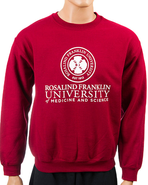 Sweatshirt, Crew Neck in Black or Garnet, Unisex