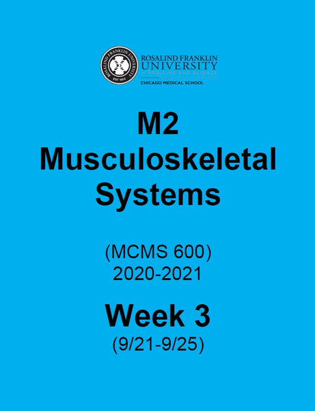 Musculoskeletal Systems Week 3, CMS M2