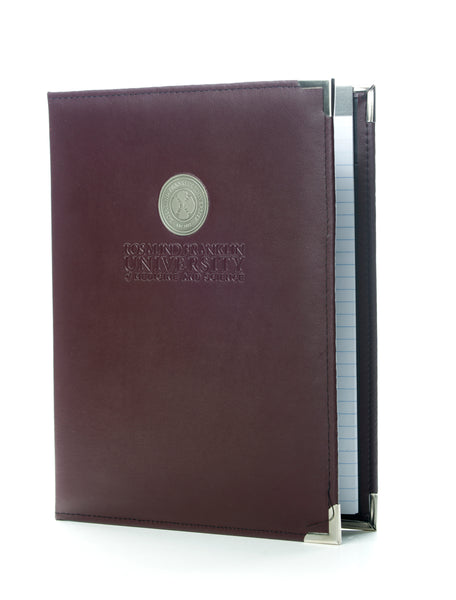Padfolio, with Brass University Emblem