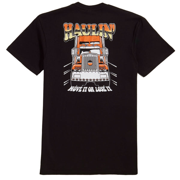 Haulin S/S Tee Shirt Blk (size options listed)