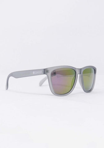 Deric Sunglasses Dk Gry/Purp Mirror OS