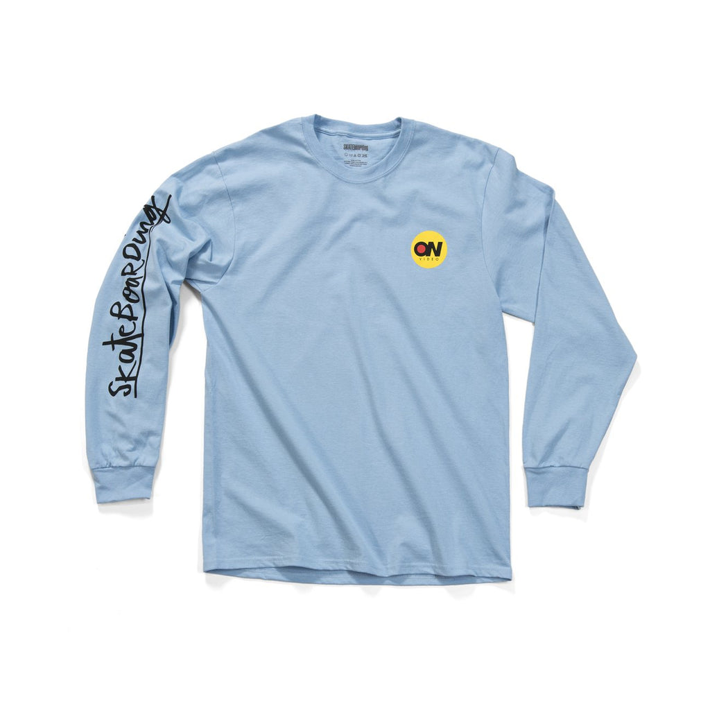 ON Video L/S Tee Shirt Lt. Blu (size options listed)