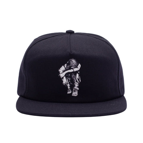 Missing Kid 5-Panel Adjustable Snapback Hat Blk OS