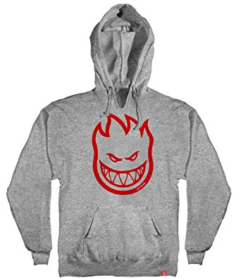 Bighead Hoodie Grey Hthr/Red Youth (size options listed)