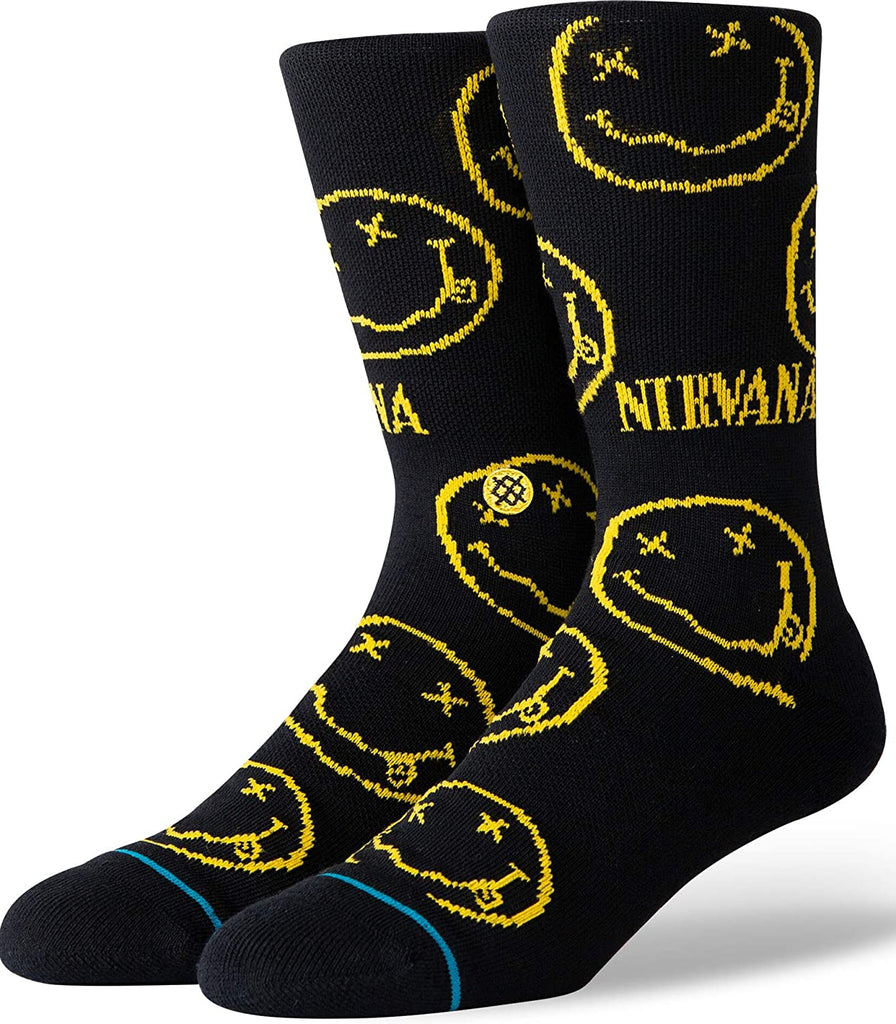 Nirvana Face Socks Blk Lrg