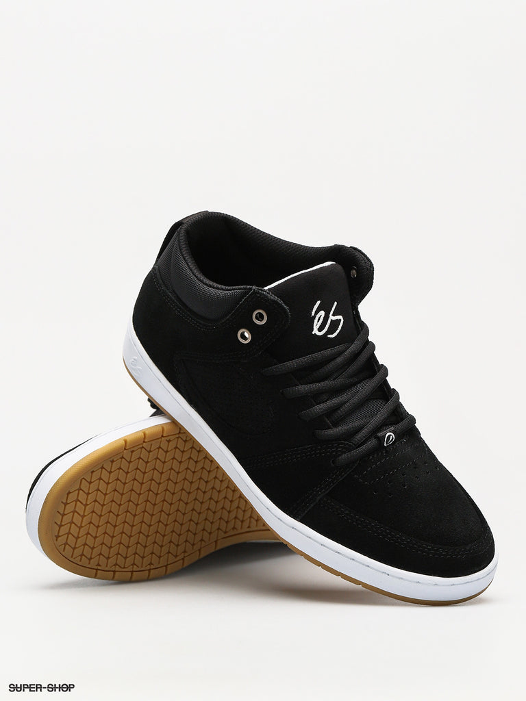 Accel Slim Mid Shoe Blk/Wht/Gum (size options listed)