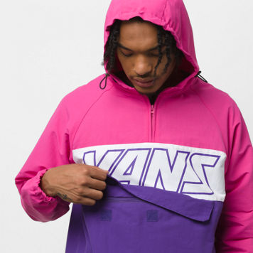 Retro Sport Anorak Jacket Fuch Purp/Helio (size options listed)