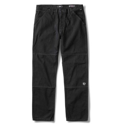V96 Relaxed Rowan Zorilla Denim Pants Blk (size options listed)