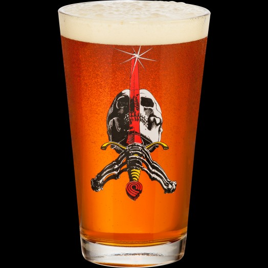 Skull And Sword Pint Glass OS