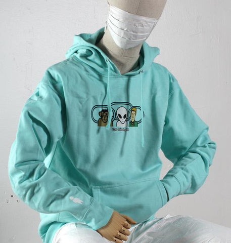 Aws Missing Link Hoodie Mint (size options listed)