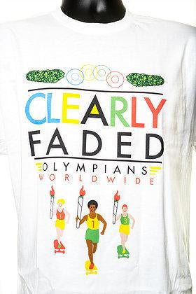 Clearly Faded Olympians S/S Tee Wht (size options listed)