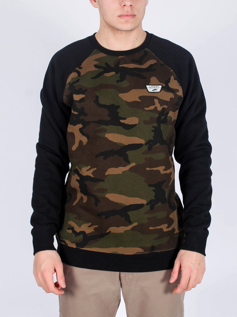 Rutland III Crewneck L/S Sweatshirt Camo/Blk (size options listed)
