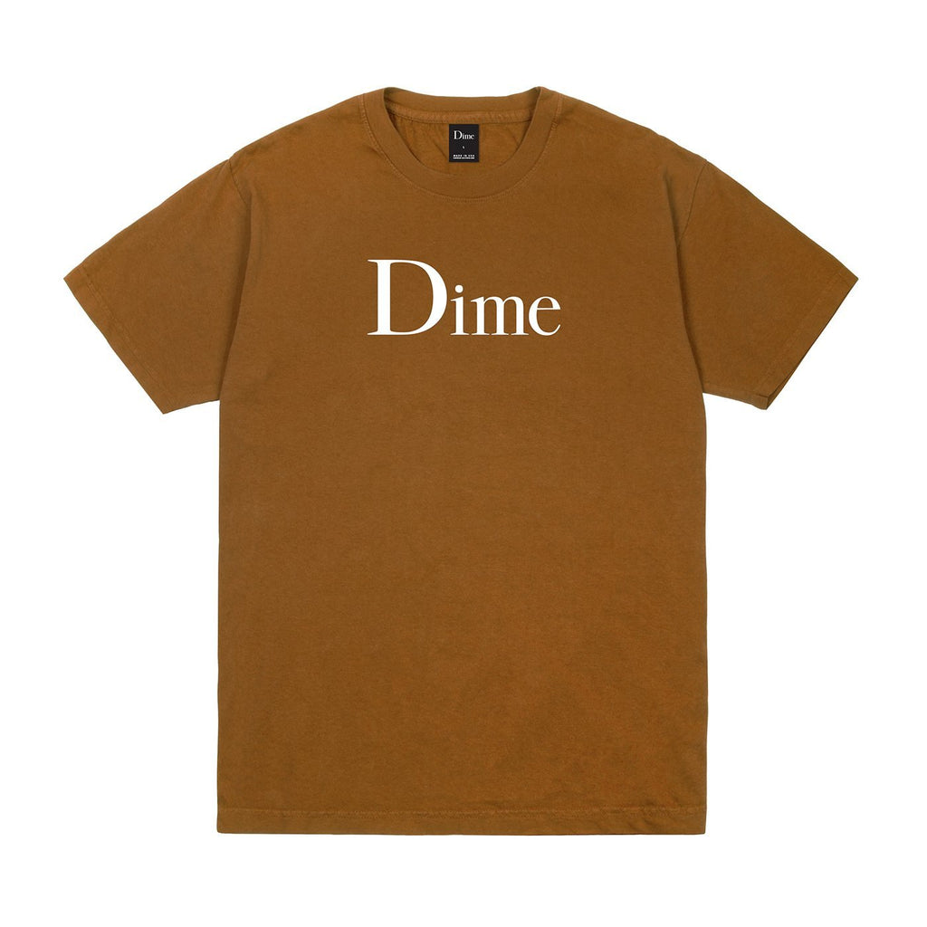 Dime Classic Logo S/S Tee Shirt Coffee (size options listed)