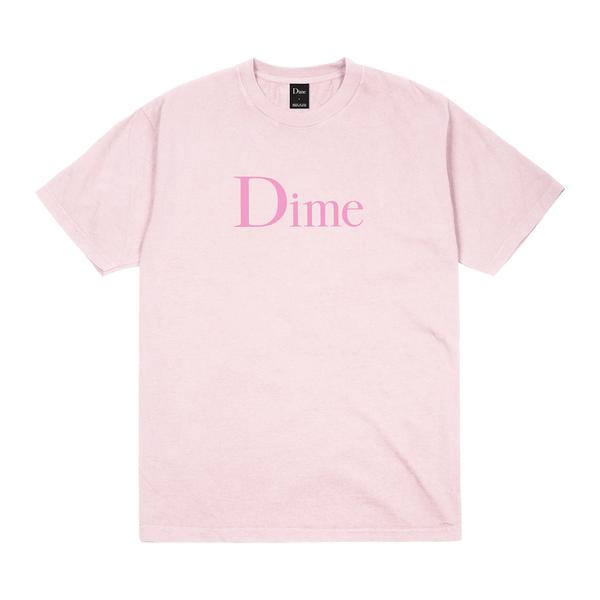 Dime Classic Logo S/S Tee Shirt Light Pink (size options listed)