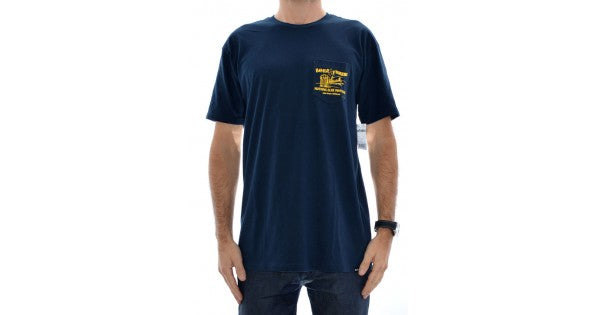 Beer And Fish S/S Tee Navy (size options listed)