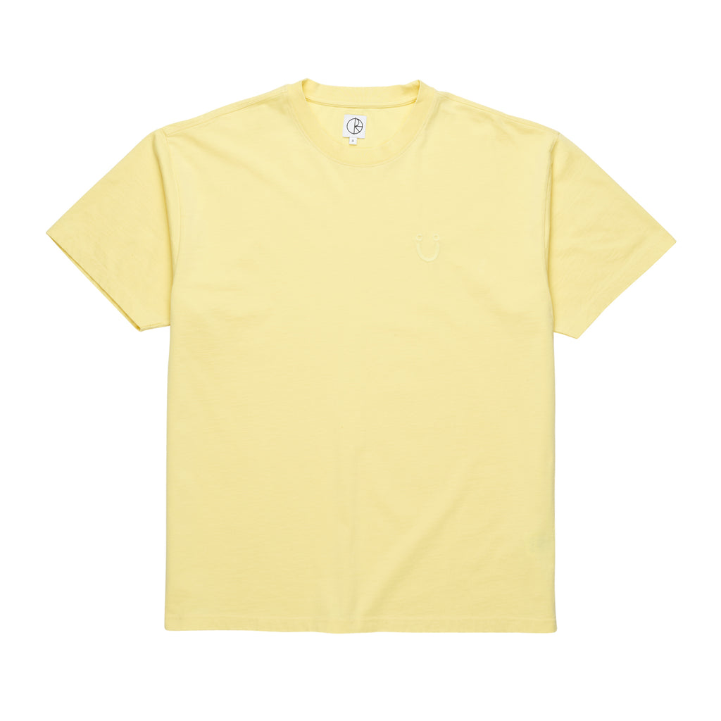 Happy Sad Garment Dyed Tee Shirt Lt.Yellow