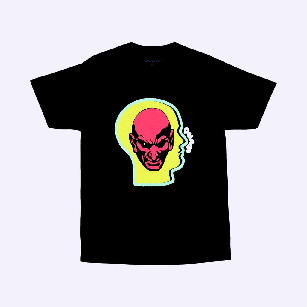 Heads S/S Tee Shirt Blk (size options listed)