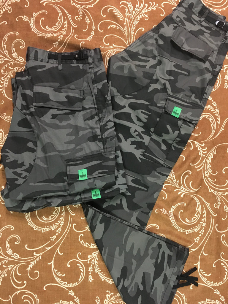 Plug Bdu Cargo Pants Blk Camo (size options listed)