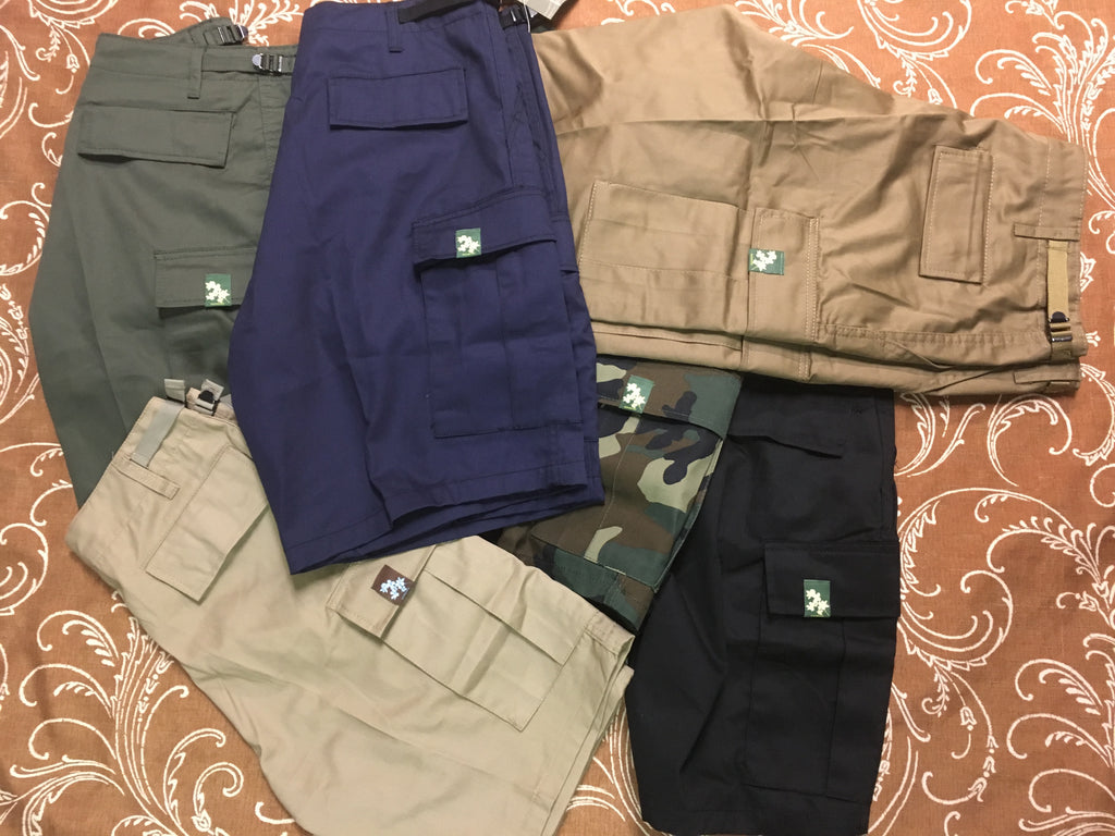 Flowers BDU Cargo Shorts (size & color options listed)