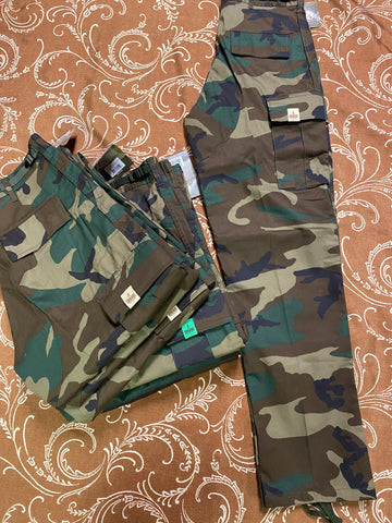 Plug Bdu Cargo Pants Woodland Camo Tag Color Assorted (size options listed)