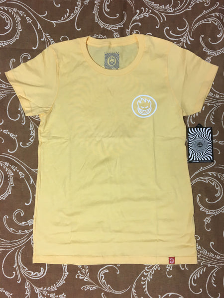 Classic Swirl Girls S/S Tee Squash/Wht (size options listed)