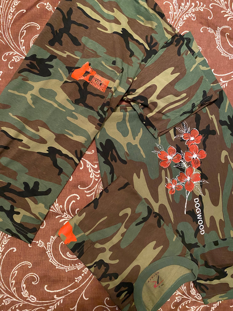 Local Flowers Pocket S/S Tee Woodland Camo (size options listed)