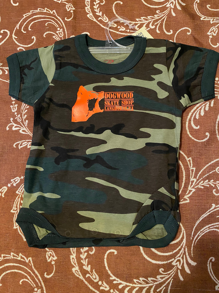 Local Infant Onesie One Piece Woodland Camo (size options listed)