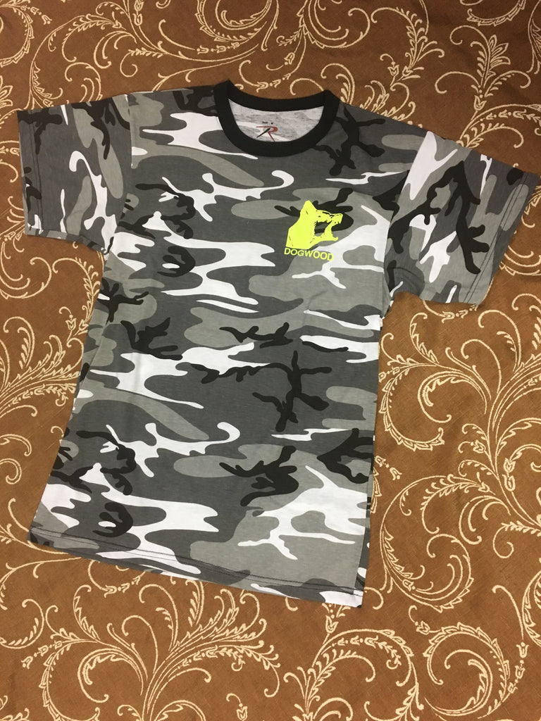 Mad Dog Hit S/S Tee City Camo / Neon (size options listed)