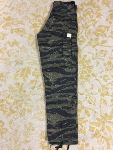 Flowers BDU Tiger Stripe Camo Cargo Pants (size options listed)
