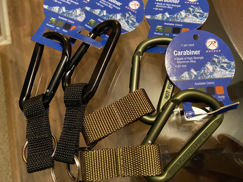 Aluminum Alloy Carabiner OS (color options listed)