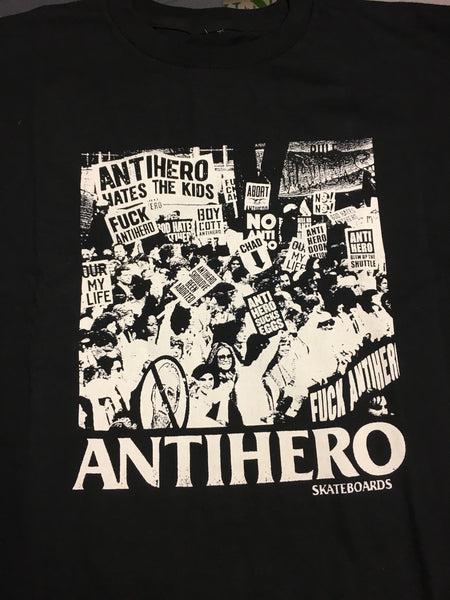 Protest S/S Tee Blk/Wht (size options listed)