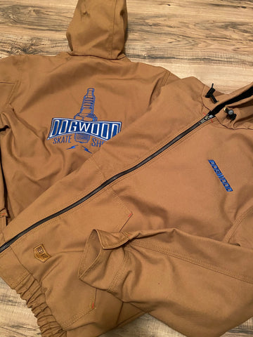 Heavy Plug Duck Canvas Hooded Zip Jacket Duck Brwn Limited (size options listed)