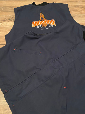 Plug Duck Canvas Button Down Vest Navy Limited (size options listed)