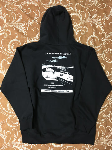 Speedway Pullover Hoodie Blk/Wht (size options listed)