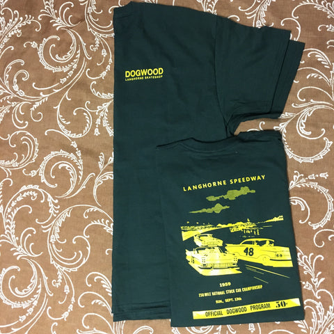 Speedway S/S Tee Shirt Dk. Grn/Gold (size options listed)
