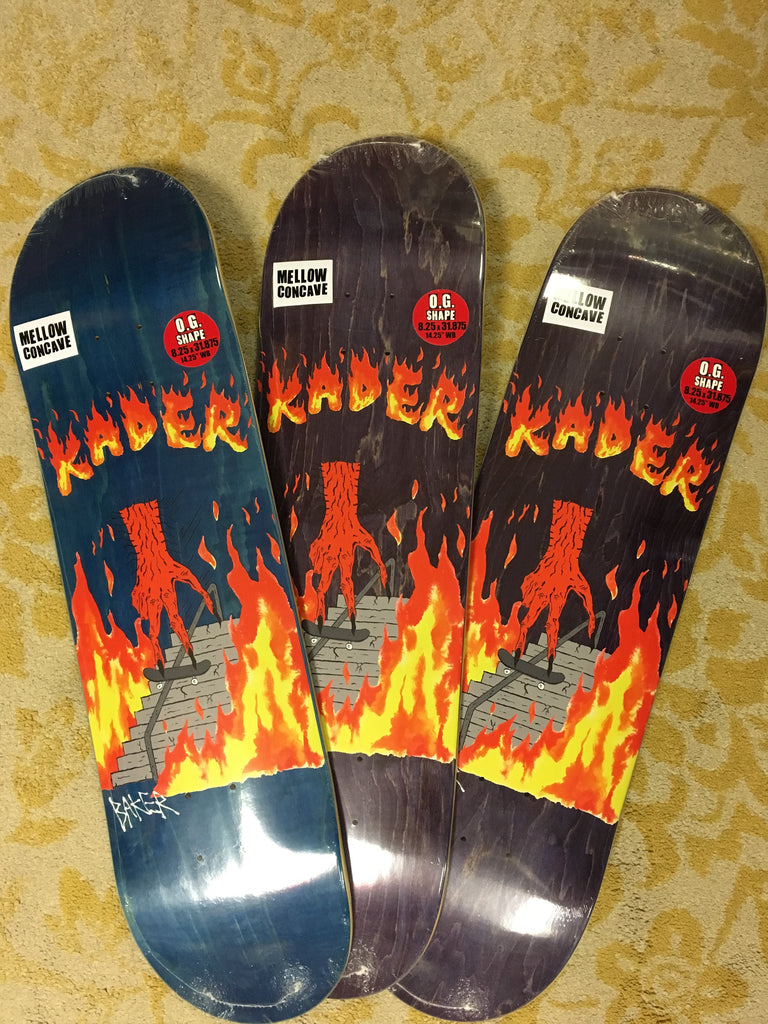 Kader Board Of Death Pro Deck Assorted Stains 8.25