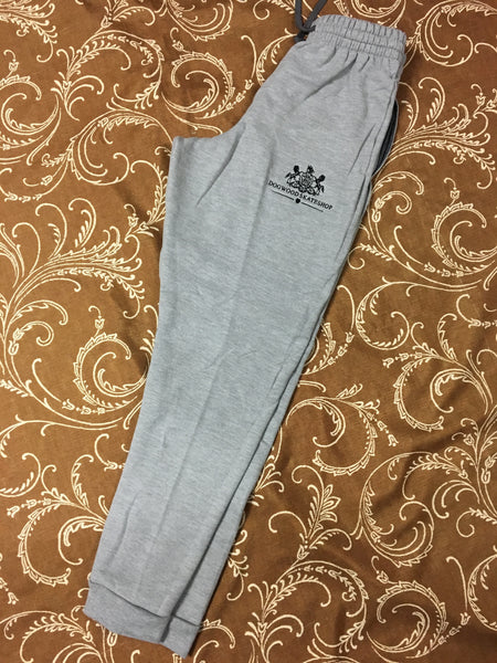 Horses Emb Sweatpants Grey/Blk (size options listed)
