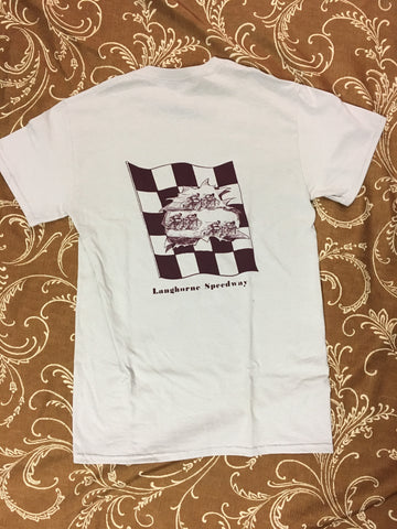 Speedway Bikes S/S Tee Shirt Ice Grey/Burg (size options listed)