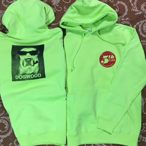 5th Pocket X Shades Pullover Hoodie Safety Grn (size options listed)