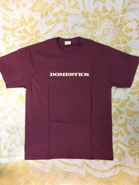 Domestics S/S Tee Maroon (size options listed)