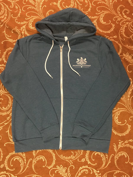 Horses Zip Up Hoodie Deep Teal (size options listed)