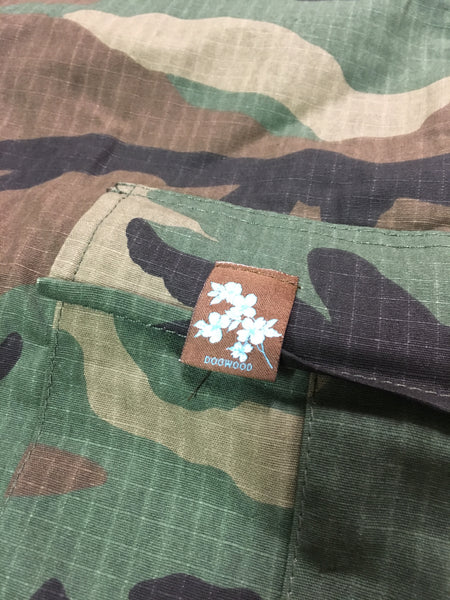 Flowers BDU Rip Stop Shorts Woodland Camo (size options listed)