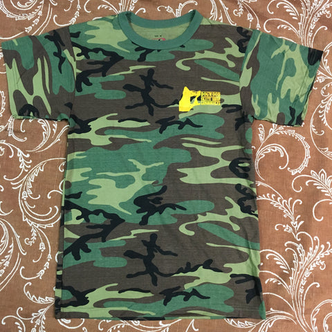 Mad Dog Local S/S Tee Shirt Woodland Camo/Yellow Print (size options listed)