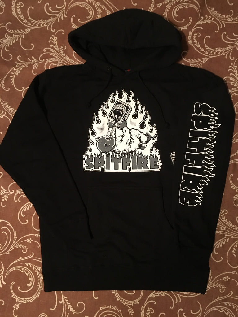 Demonseed Pullover Hoodie Raw Blk/Wht (size options listed)