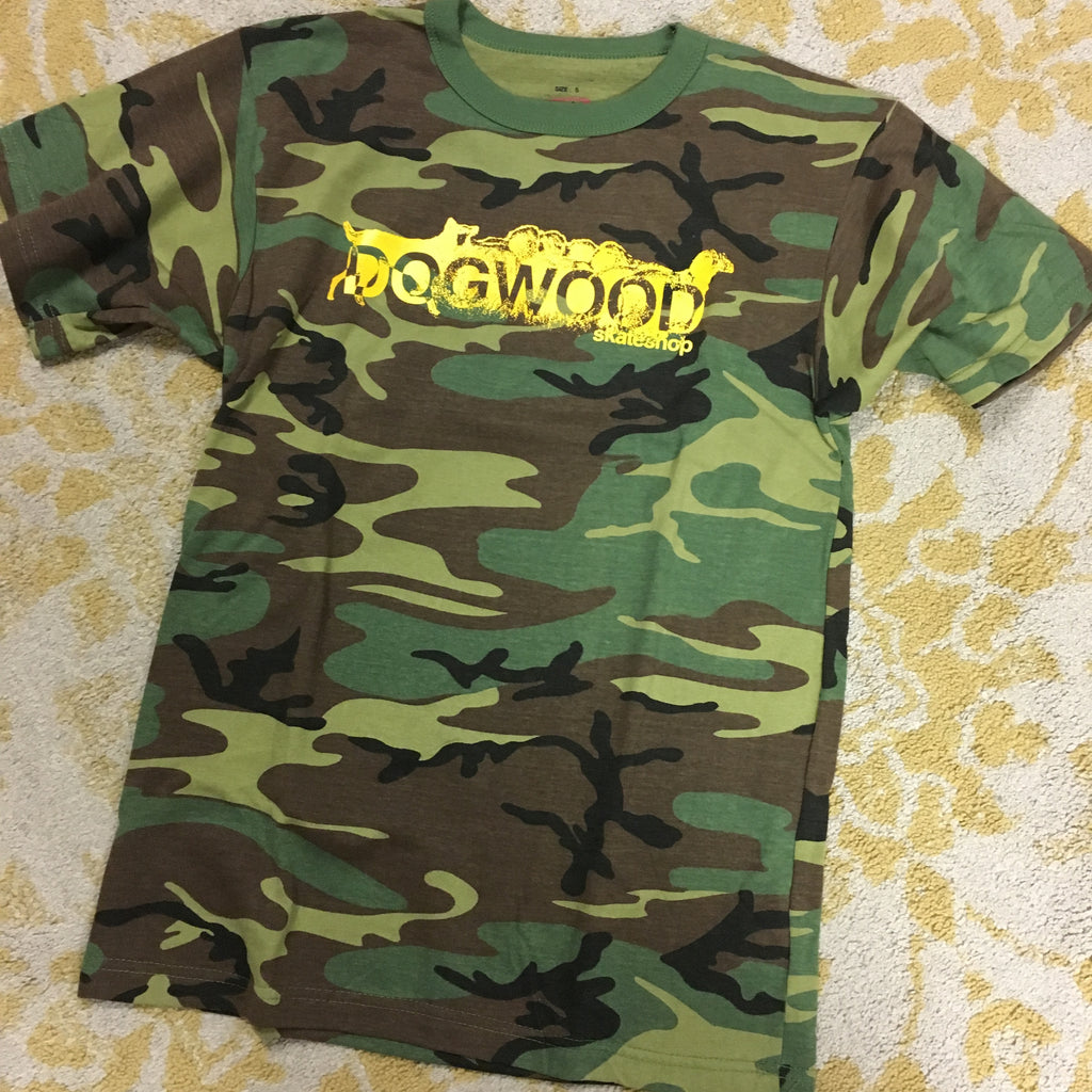 Mad Dog Camo/Yellow S/S Shirt (size options listed)