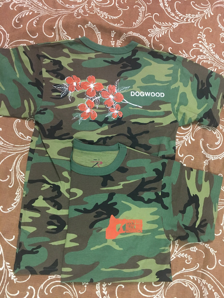 Local Flowers S/S Tee Shirt Woodland Camo (size options listed)