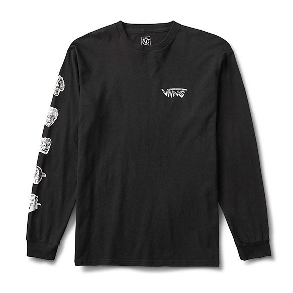 Rowan Zorilla Faces L/S Tee Shirt Blk (size options listed)