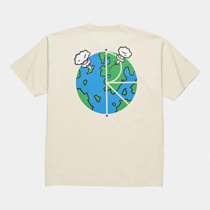 World Fill Logo Tee Sand (size options listed)