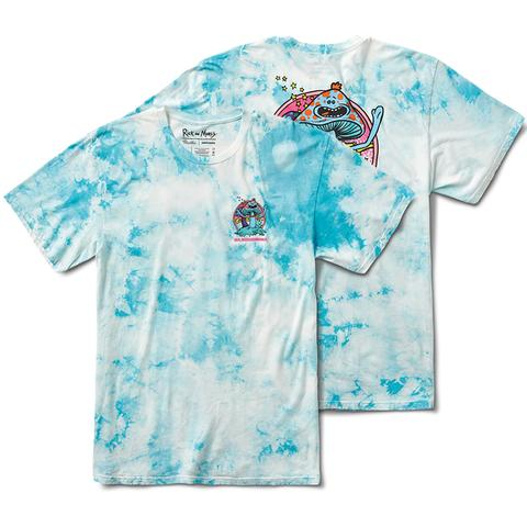Mr Meeshrooms Washed S/S Tee Shirt Lt. Blu Wash (size options listed)